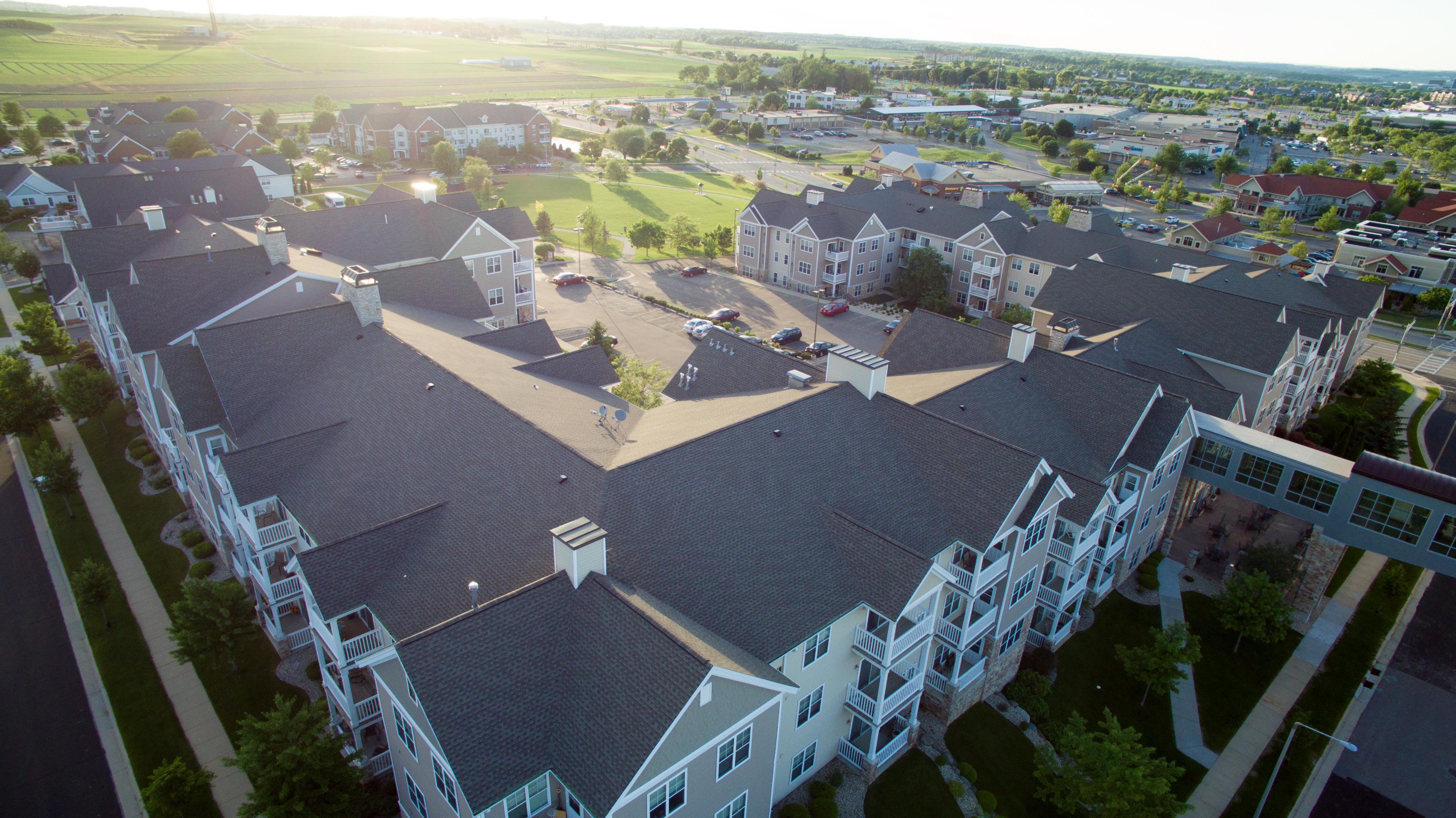 Large Apartment Building Roof Project