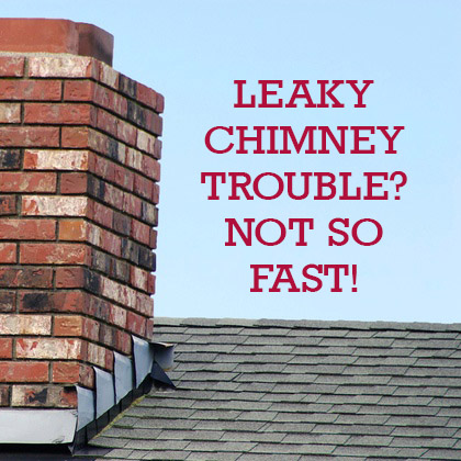 Leaky Chimney Trouble? Not So Fast!